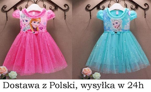 Sukienka Kraina Lodu tiul tutu Elsa Anna Frozen 4-5 lata 110 cm