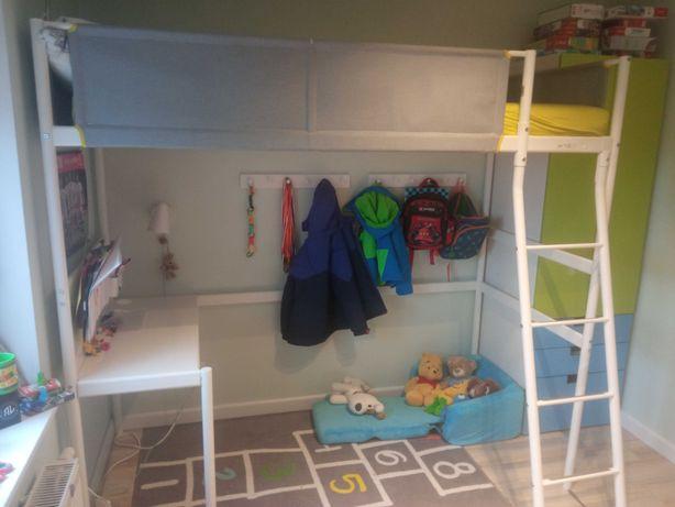 Łóżko piętrowe Ikea Vitval z biurkiem