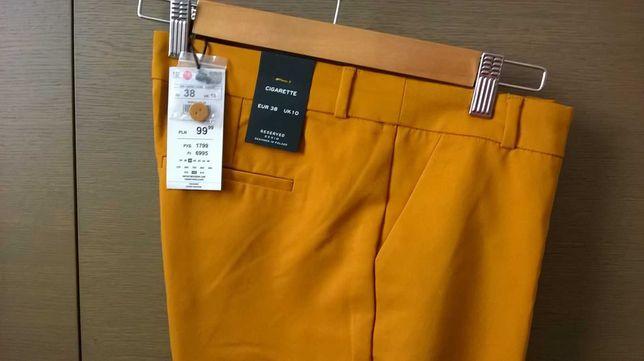 Spodnie cygaretki z Reserved r.38 Nowe