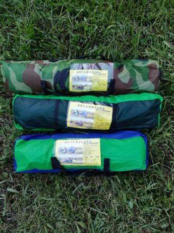 Камуфляж,Синие,Зелёные палатка автомат Leomax 2-х, 4-х, 6-х местные