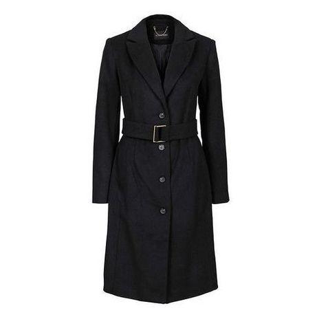 Elegancki czarny płaszcz wełna 40 L