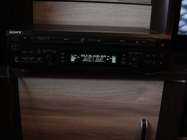 Minidisc Sony MDS-W1 dwu kieszeniowy rarytas.