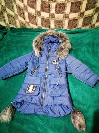 Зимня пальто, куртка на девочку 32 размер в хорошем состоянии