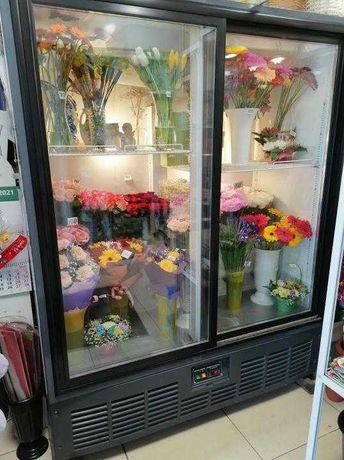Холодильная витрина холодильный шкаф для цветов Холодильник широкий