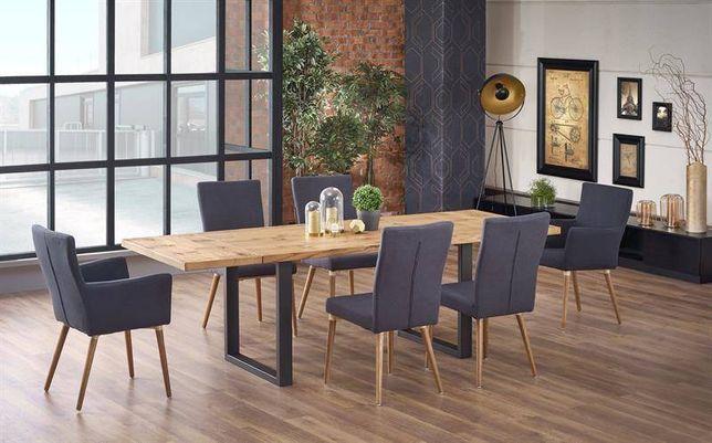 PEREZ – duży stół industrialny stół rozkładany loft DOWÓZ GRATIS Raty