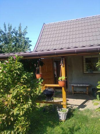 Działka rekreacyjna z murowanym domkiem