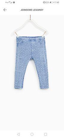 Jegginsy spodnie Zara 98