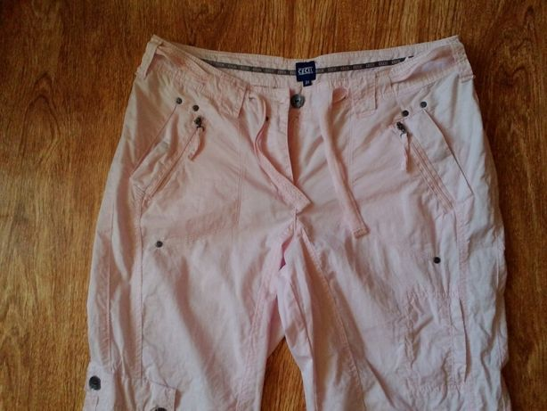 Нежно-розовые брюки карго от Cecil 46 р