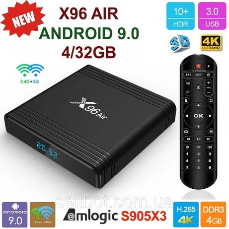 ⫸SmartTV X96Air 4gb/32гб Android9.0 S905X3 ПриставкаАндроидСмартТВ BOX