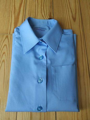 Школьная рубашка, блузка M&S, 6-7лет, 122см., одета 2 раза