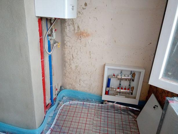 Монтаж отоплення водопроводу та каналізації.