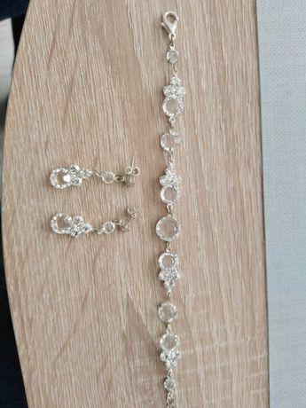 Zestaw kryształowej biżuterii ślubnej