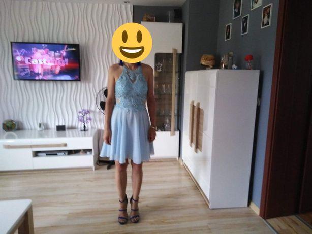 Sukienka mini, delikatnie rozkloszowana, gorsetowa, MERCEDES