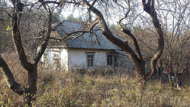 Участок в с.Веприк с домиком под постройку ( или снос) и садом