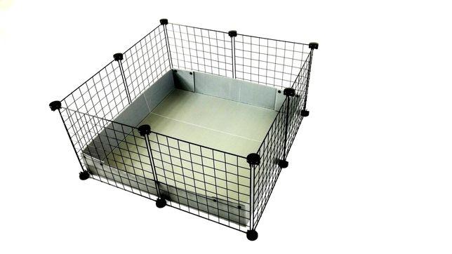 Klatka modułowa marki C&C 75 x 75 cm dla świnki morskiej królika jeża