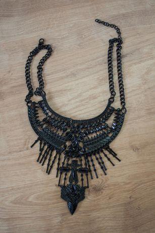 Черное железное колье ожерелье подвеска
