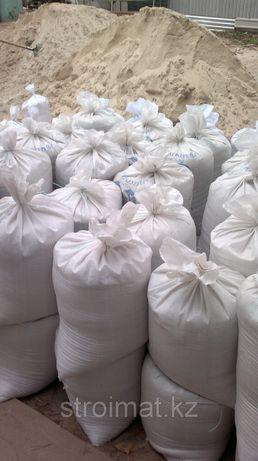 Песок в мешках 30 кг щебень цемент ПЦ-400 ПЦ-500 чернозем доставка
