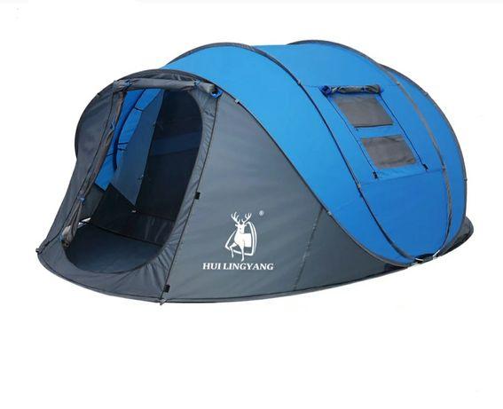 Палатка автоматически раскладывающаяся на 6 человек.