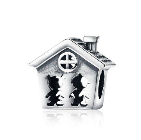 Charms PANDORA srebro 925 dom dzieci miłość rodzina