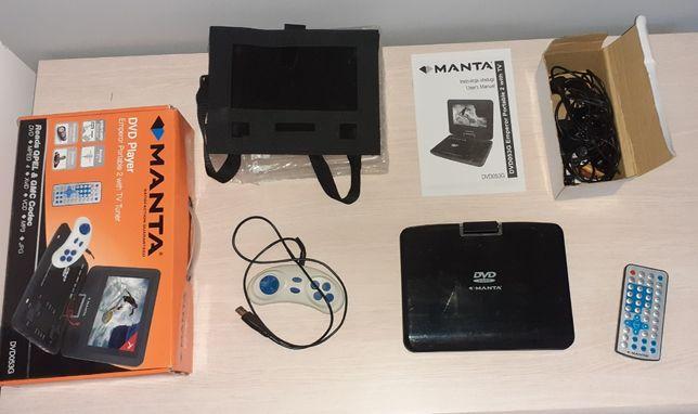 Przenośny samochodowy odtwarzacz DVD Manta z funkcją gier