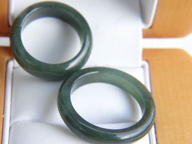 Para obrączek z naturalnego Jadeitu