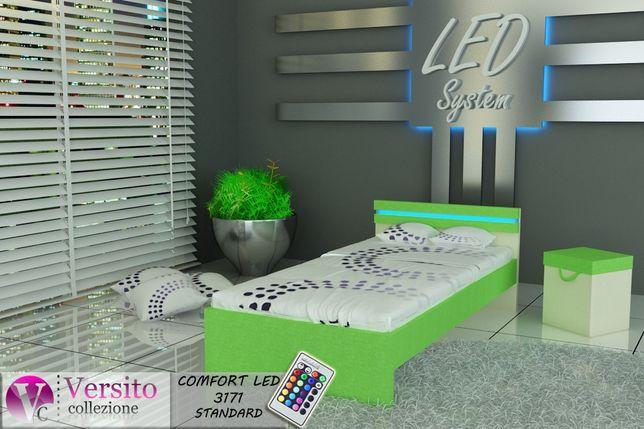 Łóżko dla dziecka z oświetleniem led, możliwe piętrowe- wysuwane