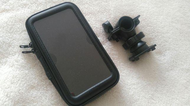 Uniwersalny uchwyt rowerowy z wodoodpornym etui na telefon - 5 cali