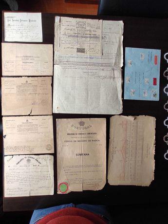 Documentos e postais antigos