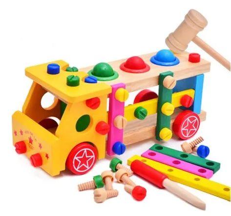 Машина стучалка конструктор деревянные развивающие игры