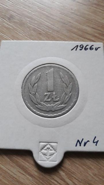 1 złoty 1966 r- PRL-Aluminium-nr 4-Super