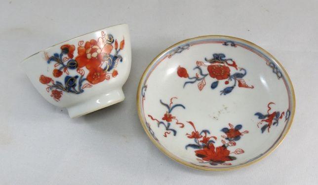 Taça +pires Porcelana chinesa da Companhia das Índias dec 9cm