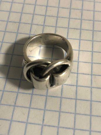 Кольцо Hermes срібне