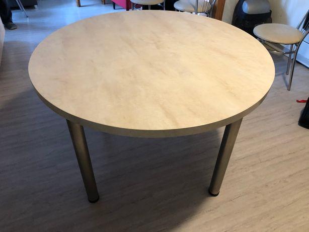 stół okrągły do kuchni i 6 krzeseł