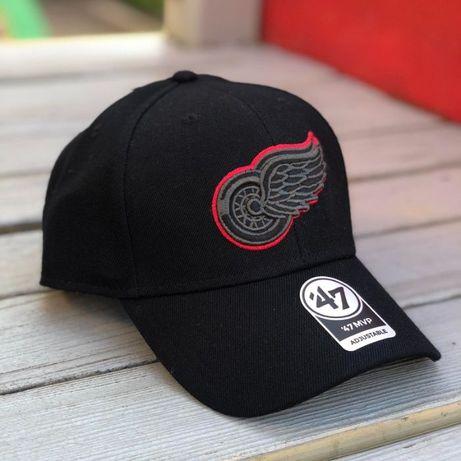 Кепка 47 Brand DETROIT RED wings. Осенняя бейсболка 15% шерсть