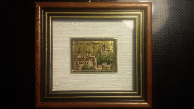 "Картина ""Tower of London"", 23К золото, Великобритания"
