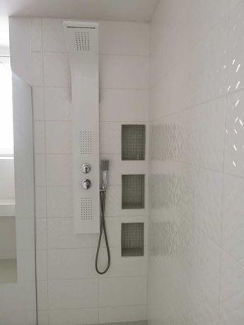 Panel natryskowy prysznicowy lazienka biały 4 sztuki prysznic kabina