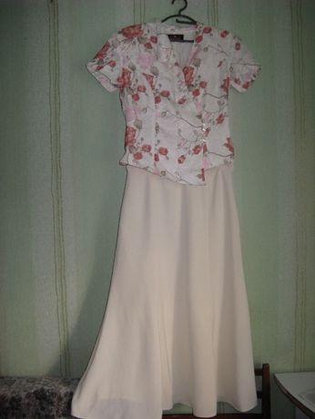 Костюм платье для торжества, праздника, свадьбы юбка и пиджак