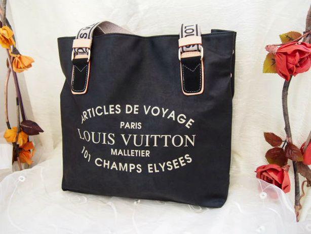 Miejska torba damska Louis Vuitton czarna eko skóra