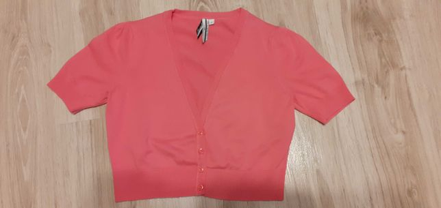 Różowy krótki sweterek rozmiar 10 (S)