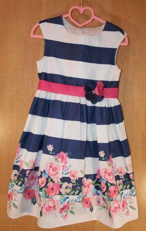 Нарядное детское платья на девочку 128 размера