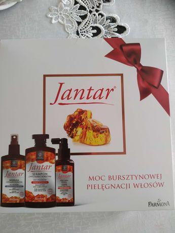 Jantar - zestaw do włosów z wyciągiem z bursztynu.