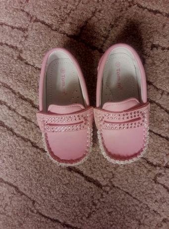 Детские розовые туфельки с ортопедической стелькой