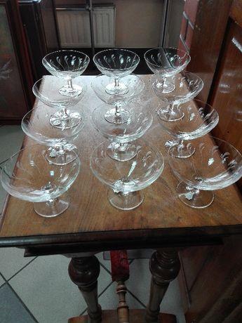 Komplet 12 kieliszków do szampana lata 20-te Hirschberg Jelenia Góra