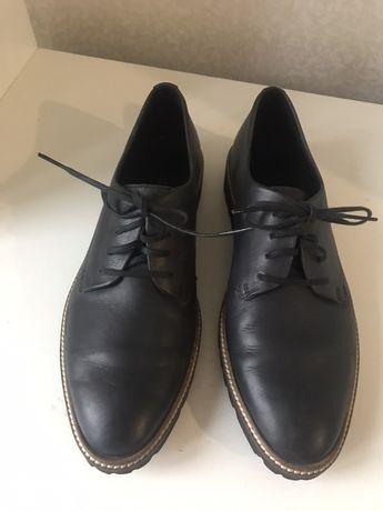 Новые кожаные туфли ecco, 39 размер