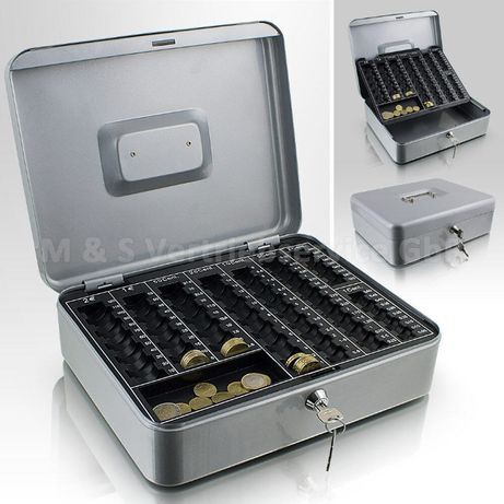 12360 Kasetka na bilon euro jasnoszara zamykana na kluczyk