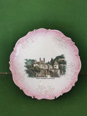 Grande prato em porcelana Vista Alegre - Recordação do Bom Jesus Braga