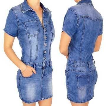 Sukienka jeansowa szmijzerka r XL