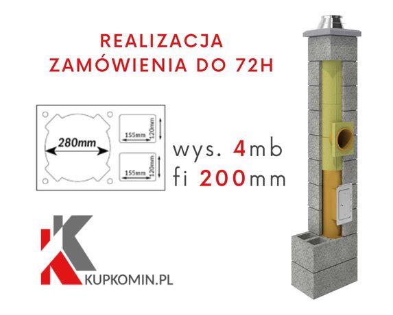 Komin ceramiczny Uniwersalny PK2W Fi 200 4m - DOSTAWA GRATIS