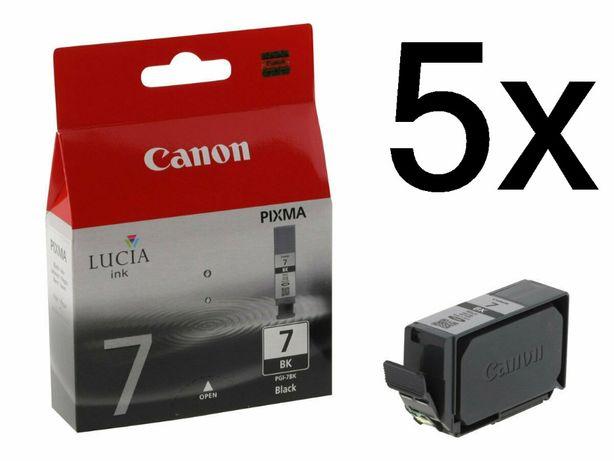 5x Tusz Canon PGI-7BK Black (2444B001) Do Pixma LX7000 MX7600 / 5-PAK