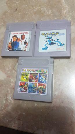 3 jogos game boy